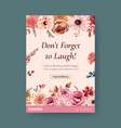 poster template with autumn flower concept design vector image vector image