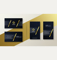 premium gold and black business card design vector image vector image