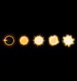 realistic sun shine suns different intense vector image