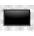 realistic tv screen modern stylish lcd panel led vector image vector image