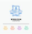 resume employee hiring hr profile 5 color line vector image vector image