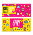 sale flyer banner posters card set vector image vector image