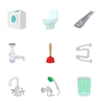 Sanitary appliances icons set cartoon style vector image vector image