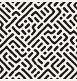 seamless maze pattern monochrome organic shapes vector image