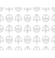 seamless pattern with viking combat helmets vector image vector image