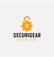 security gear logo design template isolated vector image vector image