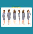 set of businesswoman character design vector image vector image