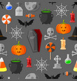Set of flat halloween icons