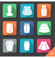 Set with skirts icons vector image