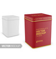 square matte tin can template realistic vector image vector image