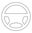 steering wheel isolated icon vector image vector image