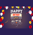 stylish greetings happy birthday creative card vector image vector image