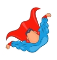 Superhero flying figure icon cartoon style vector image
