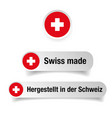 swiss made label sign vector image vector image