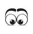 tender eyes cartoon vector image vector image