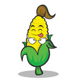 tongue out sweet corn character cartoon vector image vector image