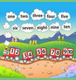 train with 10 numbers vector image vector image