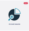 two color pie chart analysis interface icon from vector image vector image