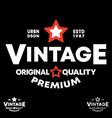 vintage t-shirt stamp typography design vector image vector image