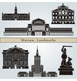 Warsaw landmarks and monuments vector image