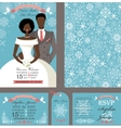 wedding invitationbridegroomwinter set vector image vector image