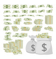 business concept set of dollar sign money vector image