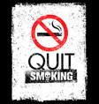 no smoking sign stop smoke symbol rough vector image