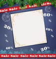 Christmas sale background vector image
