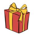gift box icon cartoon vector image