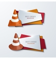 modern traffic cones banners icons set vector image