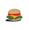 burger menu of a burger retro vector image