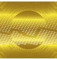 Abstract gold technical circle dots background vector image vector image