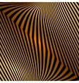 abstract metal orange gold background with zigzag vector image