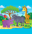 african fauna theme image 1 vector image vector image