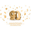 anniversary 90 gold 3d numbers