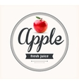 Apple juice Detailed label vector image
