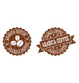 arabica coffee stamp seals with grunge texture in vector image vector image