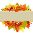 autumn text box vector image vector image