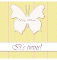 baby shower twins vintage with butterfly banner vector image vector image