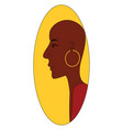 bald african girl on white background vector image vector image