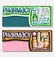 banners for pharmacy vector image
