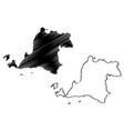 banten map vector image vector image