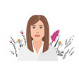 beautiful young businesswoman portrait on wild vector image vector image