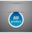 Bio product tag vector image vector image