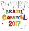 Brazil carnival 2017 background with confetti and vector image vector image