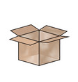 cardboard box with arrow icon vector image