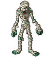cartoon mummy standing vector image vector image