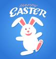 cartoon rabbit easter vector image vector image
