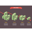 cash money inflation infographic vector image vector image