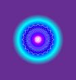 crown chakra sahasrara 7th chakra mandala vector image vector image